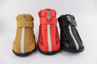 Zipper slip-resistant wear-resistant platform wellsore shoes pet shoes dog shoes satsuma large dog