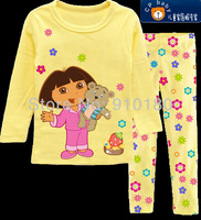 New arrival 6sets/lot baby girls brand Dora Pajamas kids cute pyjamas children's clothing set/sleepwear/homewear