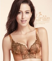 Free Shipping Glod Embroidery Adjusted underclothes sexy Bra - AV052