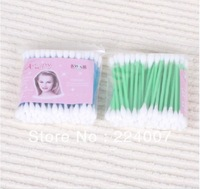 Min.order $15 wholesale Double head cotton pad stick cotton swab 100% cotton swab medical cotton applicator with plastic rod