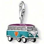 Min-order $10, 925 sterling silver Hippie VW van bus pendant charms(1.7x0.9cm) fit bracelets,DIY jewelry, TSCH852(China (Mainland))