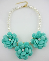 DY612 The  Punky Flower State Sweater Necklace , Punky Jewelry Big Flower For Women,Christmas,2013 New Arrival