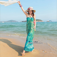 Holidaying skirt bohemia full dress one-piece dress beach dress expansion skirt