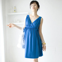 2014  Hot Sale  Solid Color  Cotton Summer Maternity Dress for Pregnant Women  Maternity Clothing for Pregnancy 0236
