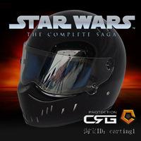 top sell 2013 Star wars motorcycle helmet glazed steel pig helmet atv-2 black