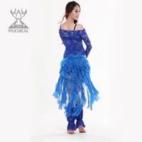 Belly dance belly chain performance wear long tassel design elegant cummerbund
