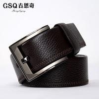 Gsq belt strap double faced first layer of cowhide business casual all-match