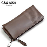 Gsq boutique clutch comfortable soft first layer of cowhide high quality elegant day clutch wallets