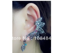 Gothic punk jewelry fashion leaves earloop Europe ear cuffs personality exaggerated earring for women LM_C210 FREE SHIPPING
