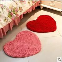 Chenille Bedroom Floor Love Heart Carpet Kitchen Bath Rug Mat Doormat Room Pad