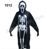 Halloween Skull mask white face & skull clothing for Halloween 1012 5set/lot in free shipping