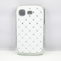 WHITE LUXURY DIAMOND BLING HARD CASE COVER SKIN FOR SAMSUNG GALAXY POCKET S5300