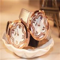 Hot sale Fashion Designer Ladies sports brand quartz  leather watch for women men Free Shipping four leaf clover women's watch