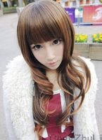 Princess lee wig qi long curly hair fluffy bangs wig female long wigs