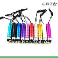 Wholesale 10 Color Mini Stylus Touch Screen Pen With Anti-Dust Plug For ipad iphone For Capacitance Screen Phone and Tablet PC