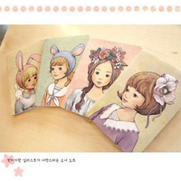 New flower girl diary books,Notepad,Memo pads,Paper notebook,sticky notes,note book,Free shipping (ss-1131)
