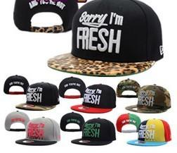 Sorry im fresh flat along the cap snapback adjust hiphop cap hiphop hip-hop cap baseball cap