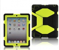 Free shipping Extreme-Duty Military Survivor Defender Stand Clip Cover Case High Protector Protective for  iPad 2/3/4