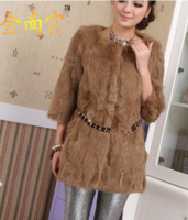 2013 medium-long rabbit fur coat fur vest short design female fur overcoat