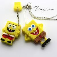 4GB 8GB 16GB 32GB Cartoon SpongeBob SquarePants USB 2.0 Flash Memory Stick Drive Thumb/Car/Pen  Free Shipping