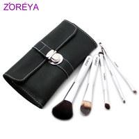 White zoreya 5 brush set loose powder brush blush brush make-up cosmetic tools cosmetic brush set