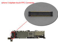 100pcs Wholesale For iPhone 5 LCD touch digitizer FPC Connector on Motherboard / Logic Board , free shipping