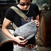 High quality 2013 leather male canvas shoulder bag messenger bag casual bag small bag man bag
