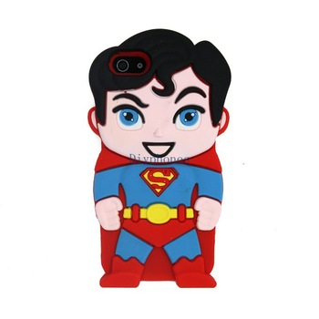 Free Shipping Fedex 100pcs/lot 3D Superman superman hero Cute Soft Silicone Back Case Cover Skin for Samsung Galaxy Ace S5830