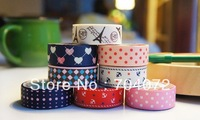 Free Shipping (10 pcs/lot) Various Vintage Pattern Masking Tape Adhesive Tape DIY Sticker Label
