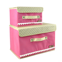 Japanese-style non-woven clothing storage box large yard debris sorting box covered box storage box buttoned Lowest