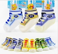Free Shipping 12pairs/lot Fashion Sport Shoes Design Cotton Baby Socks Fitted for 3 Seasons Infant's Footwear