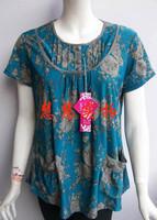 Quinquagenarian women's summer quinquagenarian clothes plus size clothing t-shirt mother clothing T-shirt short-sleeve shirt