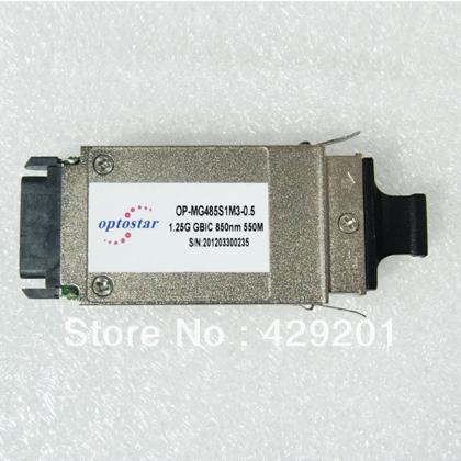 WDM GBIC transceiver, 1.25G, SM, single fiber, 1550T/1310R, 3.3V, SC connector, 20KM()
