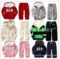 Free shipping Winter 2013  boy girl child Hoodie hooded lamb cashmere sport suit