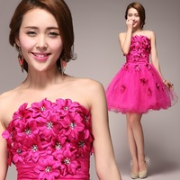 2013 design princess  classical  one-piece dress bridesmaid dress the bride flower beautiful high quality elegant fashion