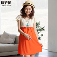 SUMMER SALE Maternity clothing summer fashion maternity dress one-piece dress full dress 327762