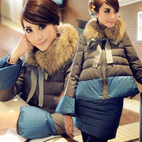 Gryr151 2013 clothes women's doll flare sleeve twinset down coat