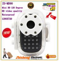 Mini HD 120 Degree Wide Angle Video Camera Mini Cam DV Recorder Vehicle Sports DVR Waterproof