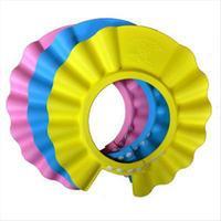 Hot sale, Wholesale 3PCS Safe Shampoo Shower Bath Cap for Baby Children Bath Hat, Free & Drop Shipping