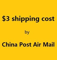 $3 shipping cost  by China Post Air Mail