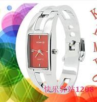ladies elegence stainless steel kimio bangle watch, women's cheap luxury square shape alloy wristwatch, free shipping1pcs