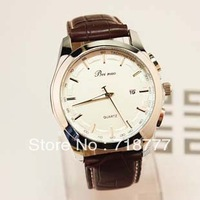 Minimum Order Of $15 Free Shipping Mens Watch Vintage Quartz Watch Brown Strap Watch Sports Male Watch