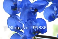 Real Touch!Free Shipping(6pcs/Lot)High Quality,Long Branch Artificial Butterfly Orchid,w/9pcs of Silk Flowers,4C can Mix Per Lot