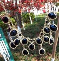 2013 New Black Women Bubble Bib Statement Fashion Necklace Dress jewelry/Christmas/Halloween decoration