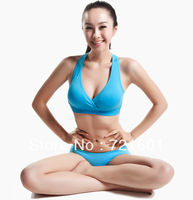 300pcs 2013 New Arrival Sexy Comfortable Sports Bra Deep V Neck Women Seamless Padded Bra Push Up Sport Underwear BDS013
