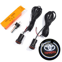 HOT SALE!!!The 4th generation New 5W Car Door Welcome Light Laser Lights with Toyota logo Shadow light free shipping