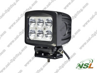2pcs 5.5inch 6pcs*10W POWERFUL cree LED work light 60W PMMA LENS car auto led light  5100lumens Spot/Flood truck 10-30V