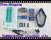 Free shipping V6.0 Russian Manual TL866A+4adapters+SOIC8\PLCCclip USB Universal Bios programmer ICSP FLASH\EEPROM SOP\PLCC\TSOP