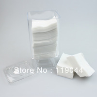 Free Shipping Nail Wipes Holder +300PCS Lint Free Nail Pad Remover Acrylic Gel Nail Wipe NA092