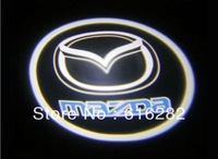 Promotion! 4th generation Ghost Shadow Light logo LED light projector welcome lighting Car Door Replacement for Mazda free shipp